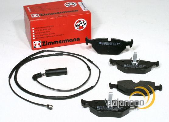 bmw 3er e46 zimmermann bremsbel ge bremskl tze warnkabel. Black Bedroom Furniture Sets. Home Design Ideas